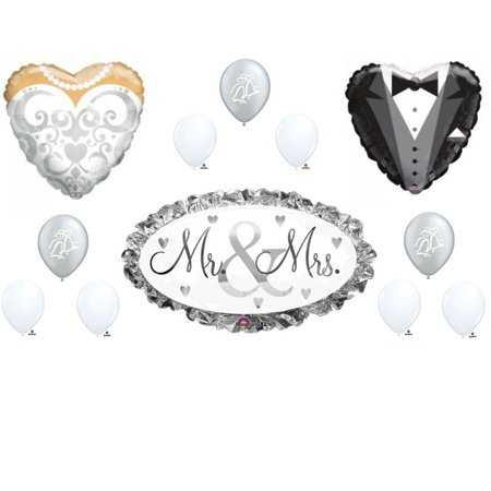 Wedding Mr. and Mrs.Shower Balloons Decoration Supplies Love Engagement Bells