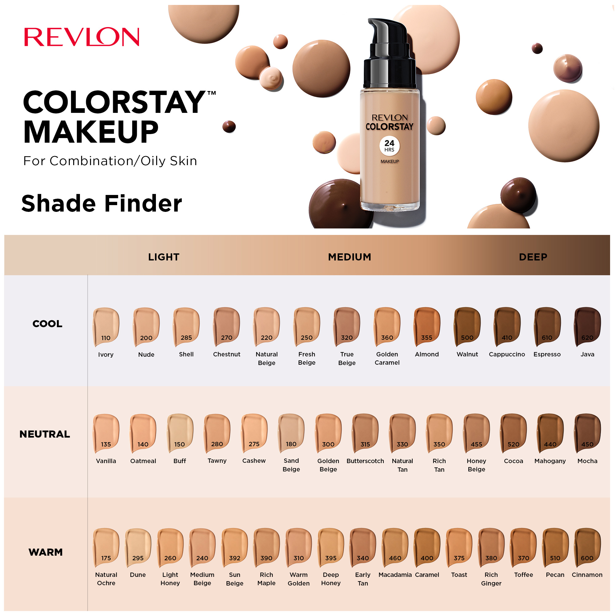 Revlon Colorstay Makeup For Combination Oily Skin Spf 15 Longwear Liquid Foundation Matte Finish Oil Free 520 Cocoa 1 0 Fl Oz Walmart Com Walmart Com