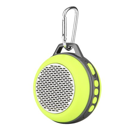 AGPtek Portable Speaker with Enhanced Bass and Built-in Mic Mini Compact Size for Home Outdoor Travel-Yellow