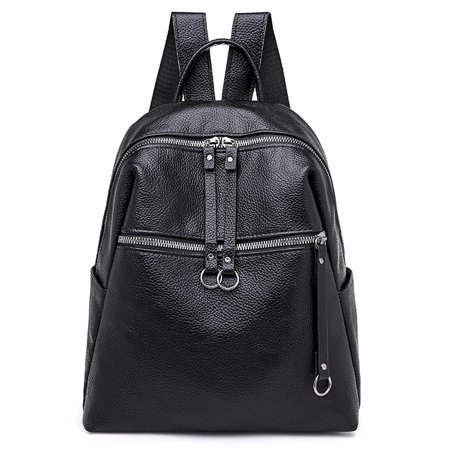 Women Lady Backpack Rucksack Faux Leather Shoulder Bag Satchel Handbag School Bags Black