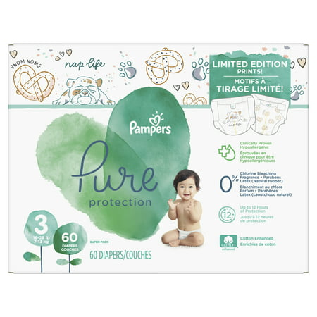 Pampers Pure Protection Diapers Limited Edition Size 3 60