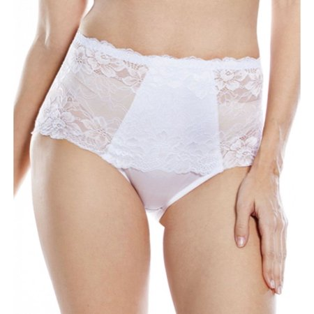 Women's Rhonda Shear 3901 Full Coverage Lace Brief Panty