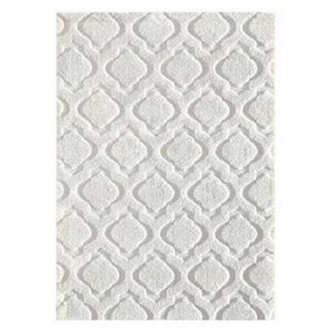 Central Oriental WEL7696.04.2 Weldon Jardel 100 Percent Heat Set Frieze Polypropylene Rug, Off White - 7 ft. 6 in. x 9 ft. 6 in.