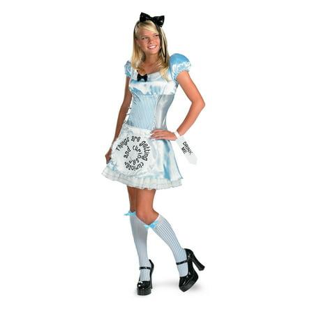 Alice in Wonderland Teen Womens Costume 50332 - Small (4-6) (Alice In Wonderland Womens Costume)