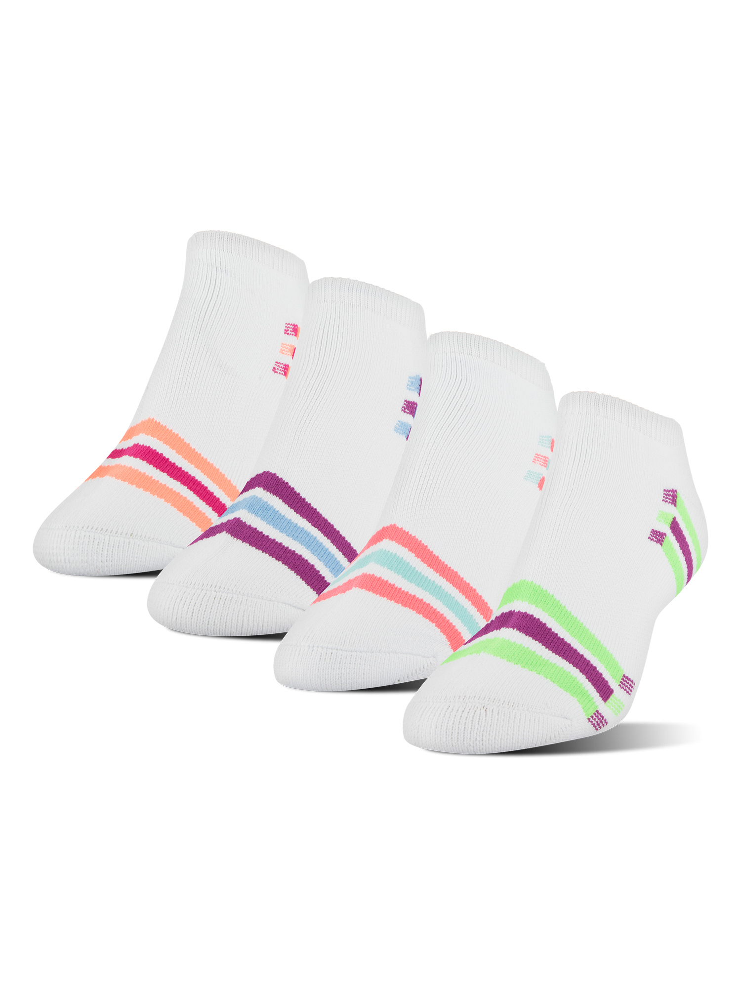 Women's XS Memory Cushion No Show Socks, 4 Pairs