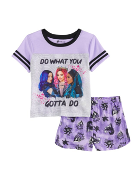 Descendants Girls 2-Piece Pajama Short Set Sizes 6-14