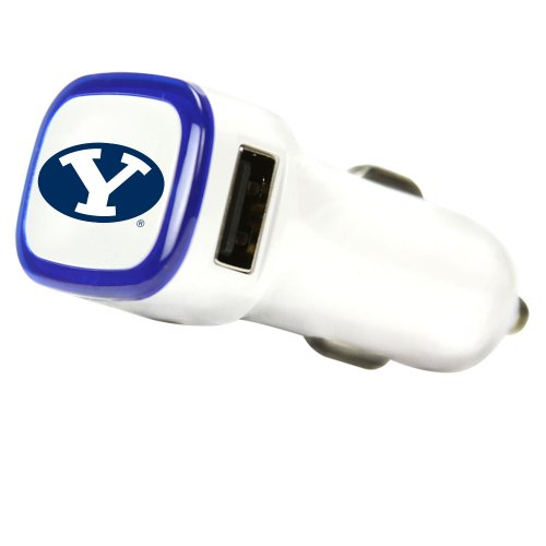 Brigham Young Cougars Car Charger, White