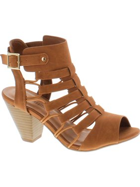 681b4817aa Product Image City Classified Awesome Gladiator Strappy Chunky Block Heel