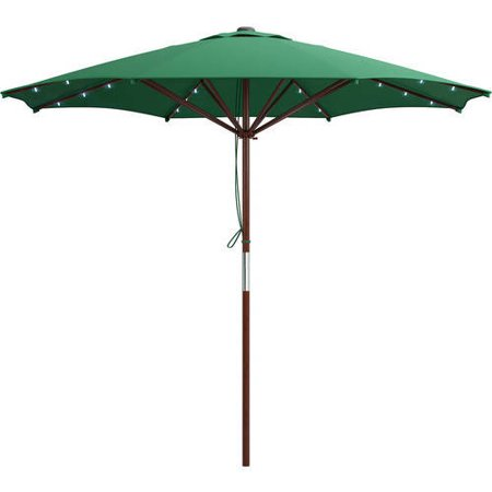 corliving patio umbrella with solar power led lights. Black Bedroom Furniture Sets. Home Design Ideas
