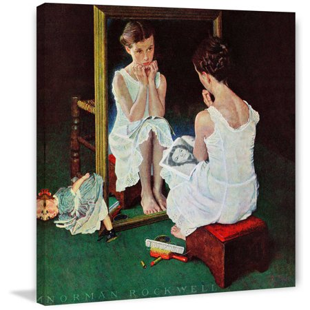 Marmont Hill At The Mirror By Norman Rockwell Painting Print On Canvas