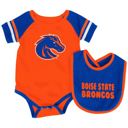Boise State Broncos Colosseum Roll-Out Infant One Piece Outfit and Bib - Broncos Outfit