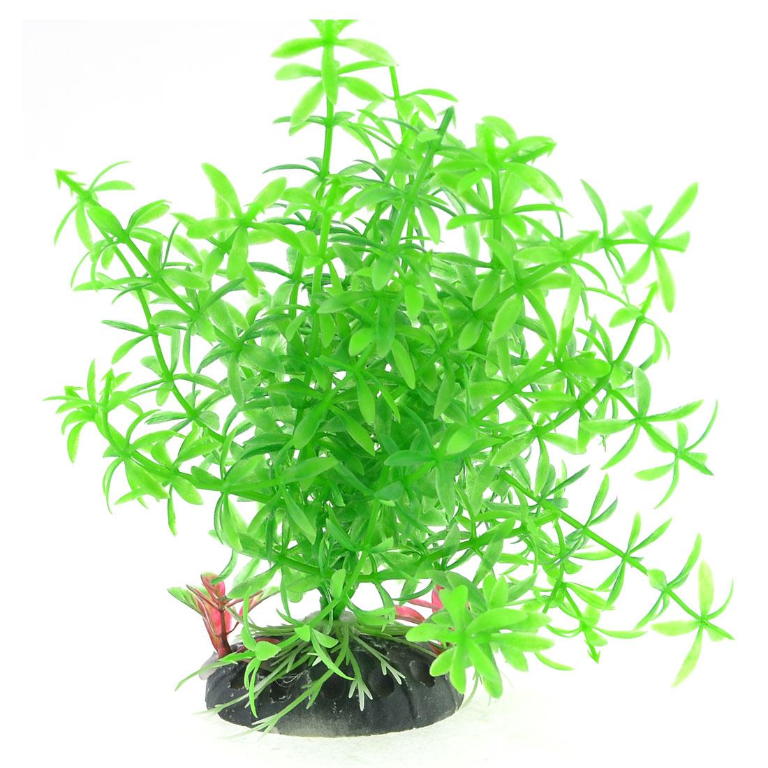 Unique Bargains 5.7 Tall Green Lifelike Artificial Grass Plant Decor for Aquarium
