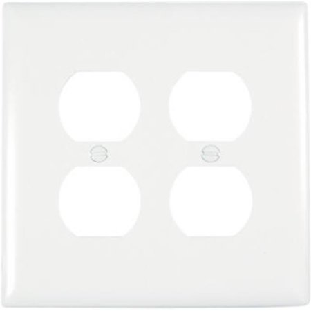 TPJ82WCC10 Duplex Wall Plate, 2 Gang, White - image 1 of 1