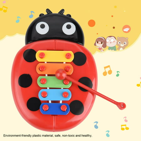 VBESTLIFE Baby Musical Instrument Gift Xylophone Beetle Toys for Children Educational Development , Beetle Musical Toy,Xylophone Toy