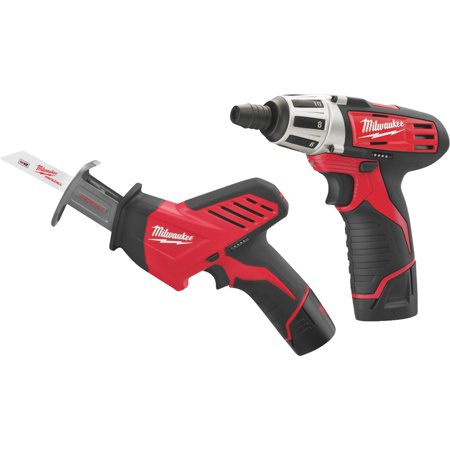 Milwaukee M12 Lithium-Ion Screwdriver & Reciprocating Saw Cordless Tool Combo Kit