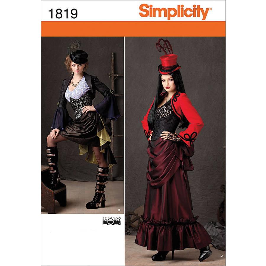 Simplicity Pattern Misses' Victorian Era Steampunk Costumes, (14, 16, 18, 20, 22)