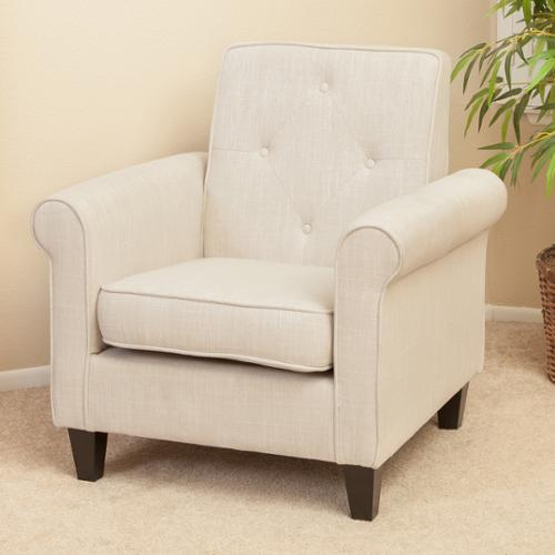 Christopher Knight Home Isaac Tufted Beige Fabric Club Chair by