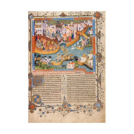 1400 Print (Marco Polo?S Departure from Venice in 1271 (From Marco Polo?S Travel), Ca 1400 Print Wall Art)