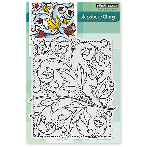 "Penny Black Cling Rubber Stamp, 4.75"" x 5.5"" Sheet, Autumn Dance"