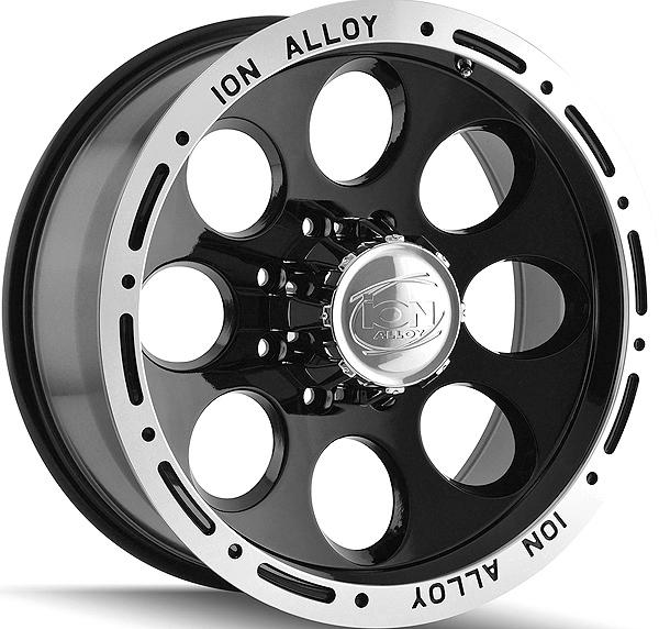 "17"" Inch ION 174 17x9 8x165.1(8x6.5"") 0mm Black Wheel Rim"