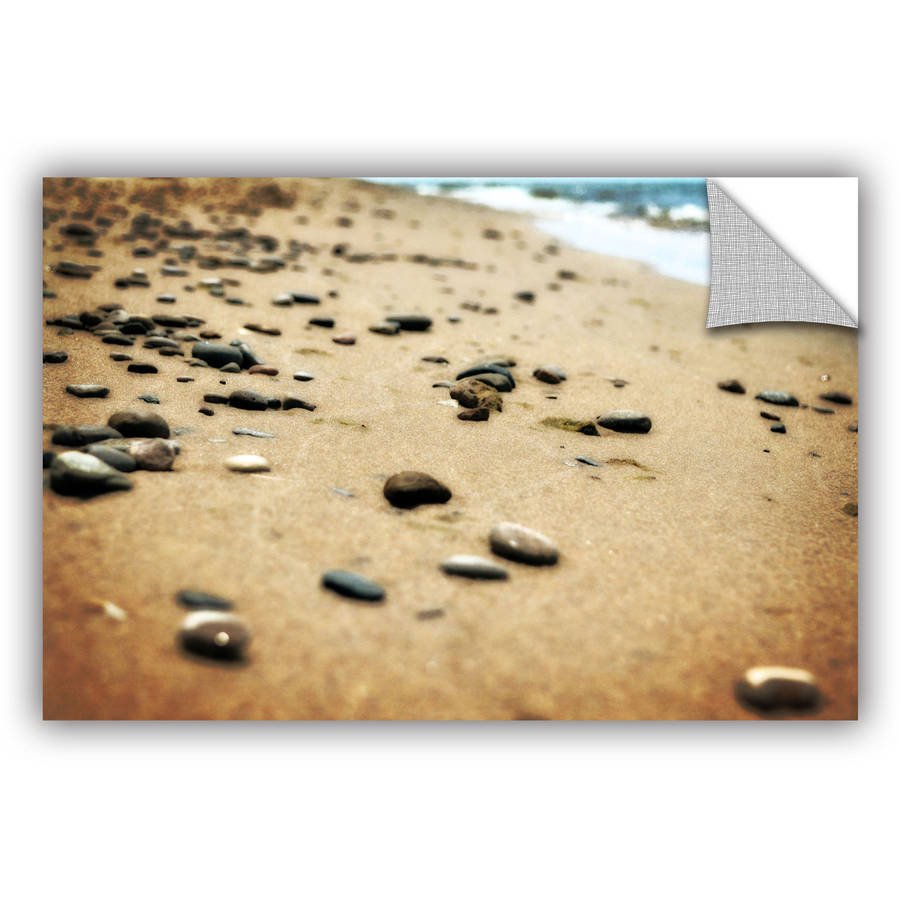 """ArtWall Kevin Calkins """"Pebbles and Waves"""" ArtAppealz Removable Wall Art"""