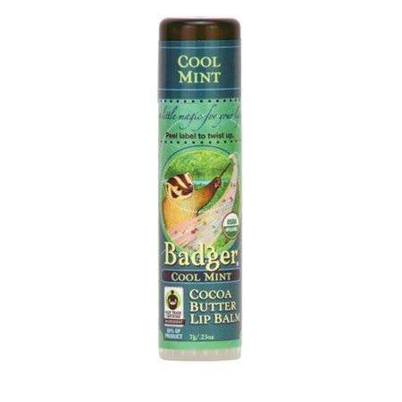 Badger Soothing Balms (Badger Organic Cocoa Butter Lip Balm - Cool Mint )
