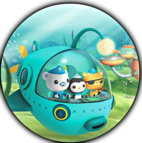 "The Octonauts Image Photo Cake Topper Sheet Personalized Custom Customized Birthday Party - 8"" ROUND - 75126"