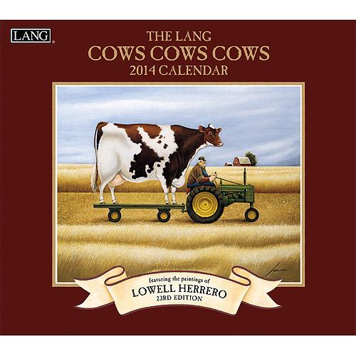 Lang Cows Cows Cows 2014 Wall Calendar