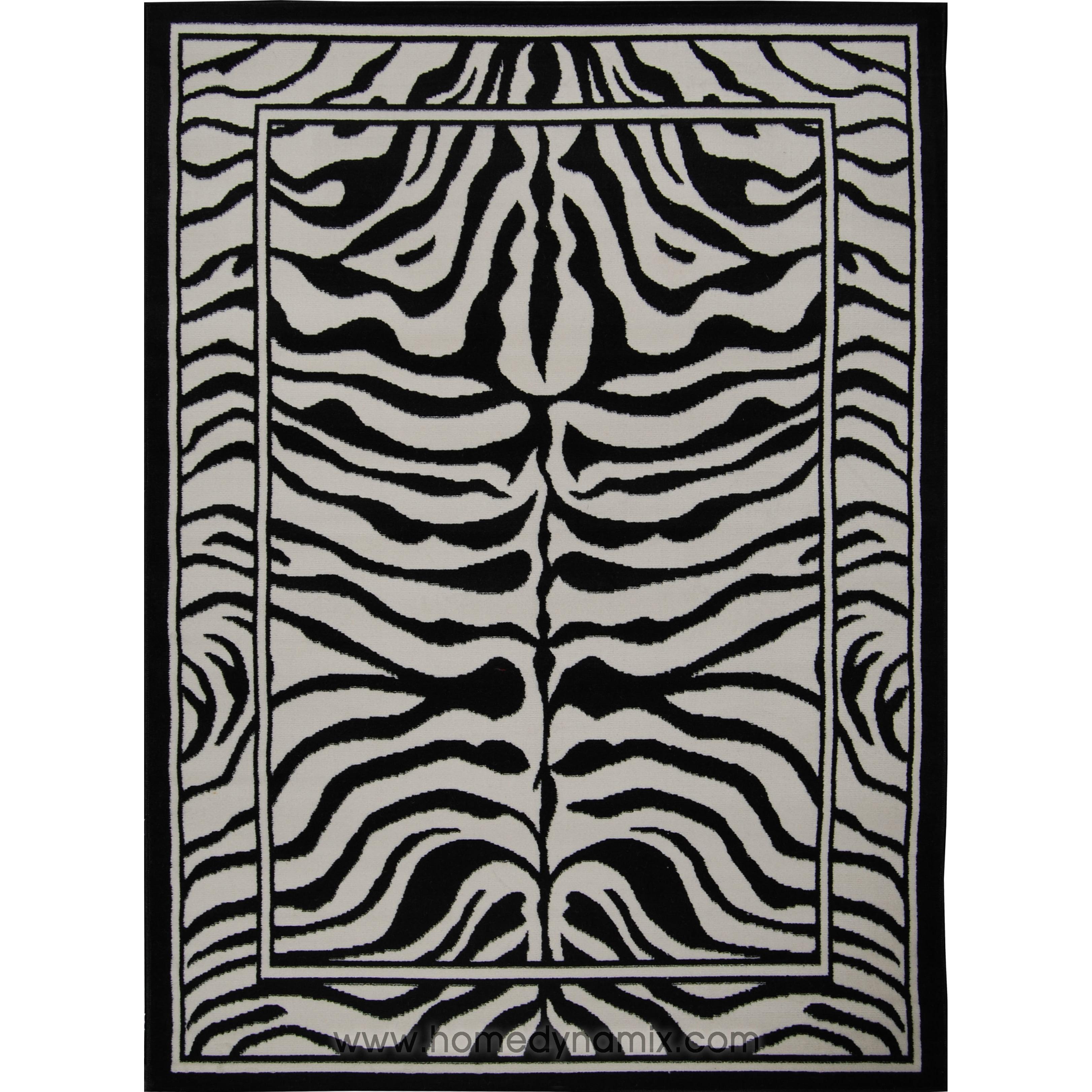 Home Dynamix Zone Area Rugs Bordered Exotic Zebra Rug