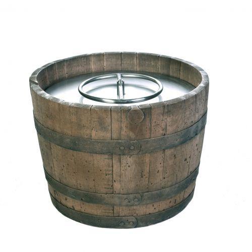 Rust Finish Wine Barrel Firepit by Tretco