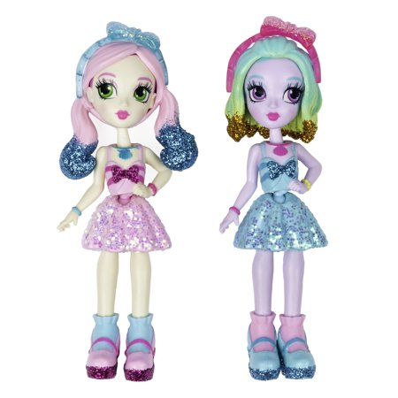 Off The Hook Style BFFs, Naia & Jenni (Spring Dance), 4-inch Small Dolls with Mix and Match Fashions and Accessories, for Girls Aged 5 and Up