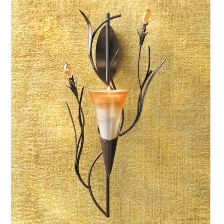 Lily Blossom Wall Candle Holder ()
