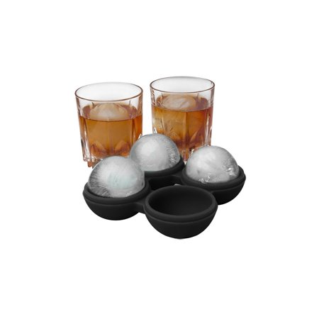 Set of 2 Round ICE Ball Maker Mold Cube Whiskey Balls Cocktails Silicone