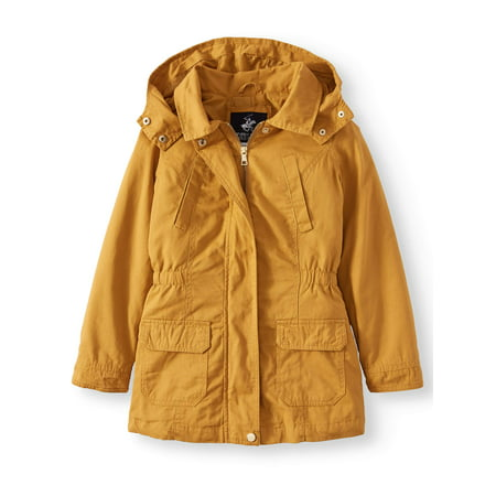 Cotton Anorak Jacket with Pockets (Little Girls & Big