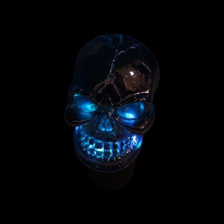 Skull Head Design Colorful LED Light Manual Gear Shift Knob Lever for Auto Car - image 4 of 8