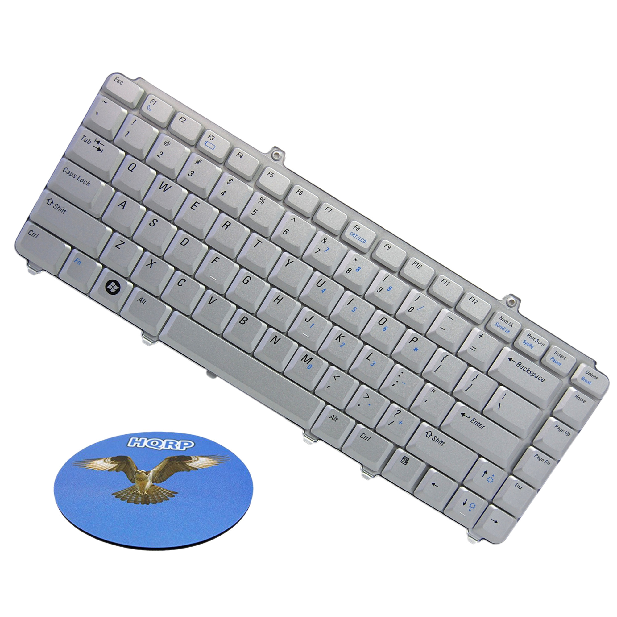 HQRP Laptop Keyboard for Dell PP22L / PP25L / PP28L / PP29L / NSK-D9001 / YY960 Notebook Replacement plus HQRP Coaster