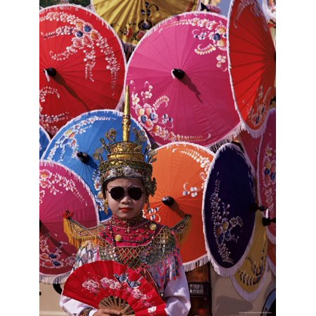 Boy in Shan Costume at Handicraft Festival, Chiang Mai, Thailand, Southeast Asia Print Wall Art By Alain - Siamese Costume
