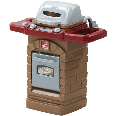 Step2 Fixin Fun Outdoor Grill with Ten piece Stack and Stay Hot Dog Set