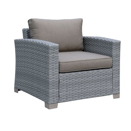 Furniture of Americ a Edyte Contemporary Grey Patio Arm (Contemporary Patio Furniture)