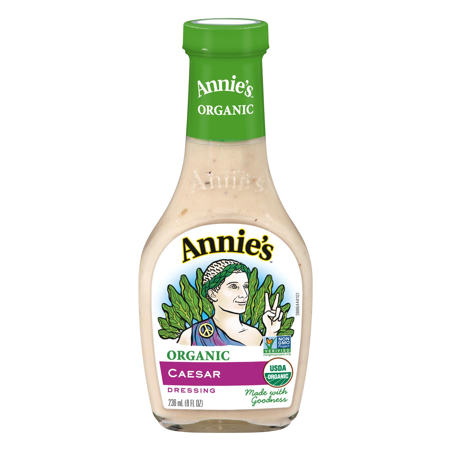Annie's Organic Caesar Dressing Made wWith Goodness, 8 fl oz Bottle
