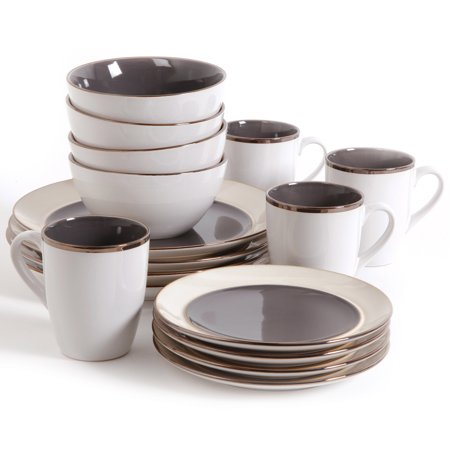 gibson studio amberwood 16 piece dinnerware set