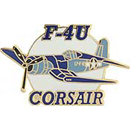 Metal Lapel Pin - Aircraft Pin - WWII Air Force/ Navy Fighter - F-4FU Corsair