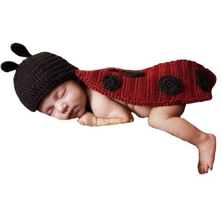 Majestic Milestones Crochet Baby Costume - Newborn - Ladybug](Halloween Costumes For Newborn Baby Girl)