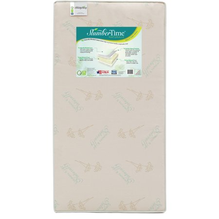 BeautySleep SlumberTime Naturally 5.5-Inch Crib and Toddler Mattress - Soy Foam Core - Dual Sided - Waterproof Woven Cover - GREENGUARD Gold Certified (Natural/Non-Toxic)
