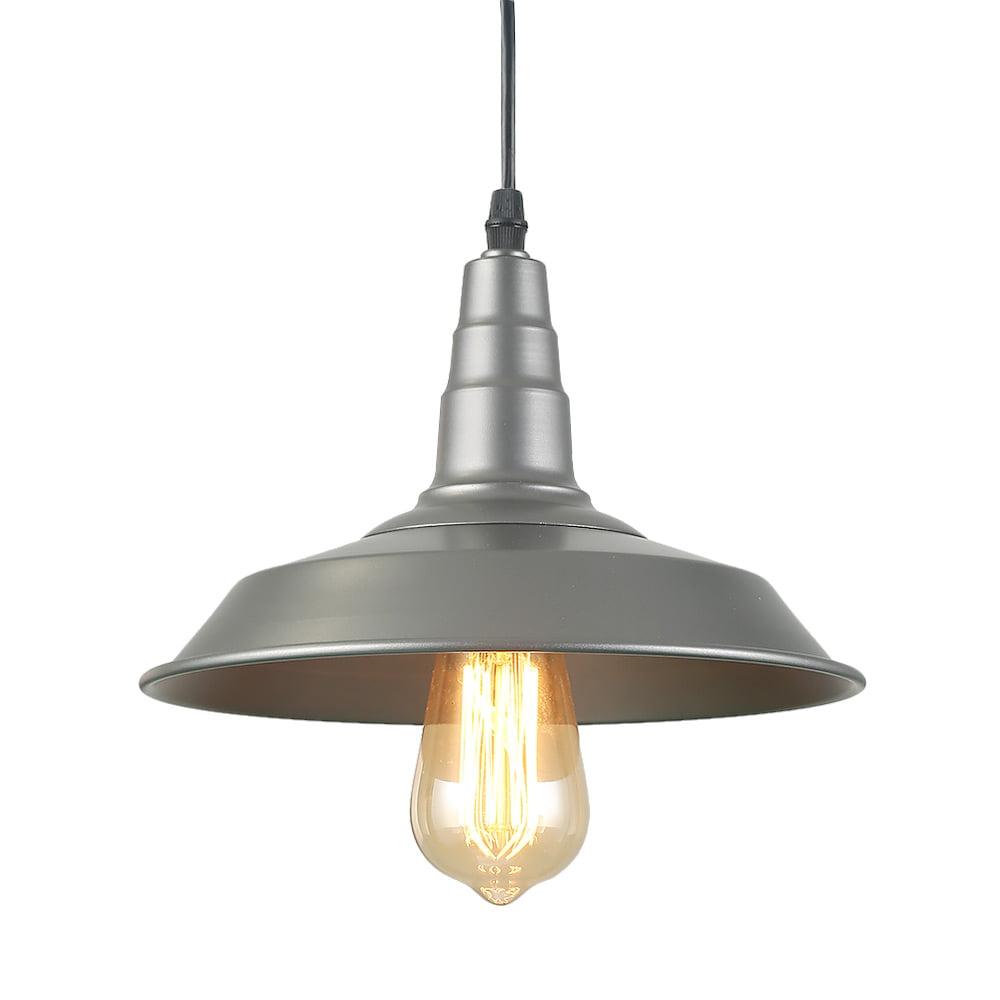 LNC 1-Light Barn Pendant Lights Farmhouse Silver Ceiling