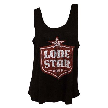 Lone Star Tank - Lone Star Retro Brand Women's Black Shield Logo Tank Top