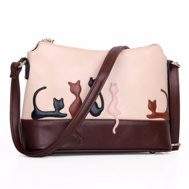 Women Cat Rabbit Leather Shoulder Bag Cross Body Purse Handbag Messenger