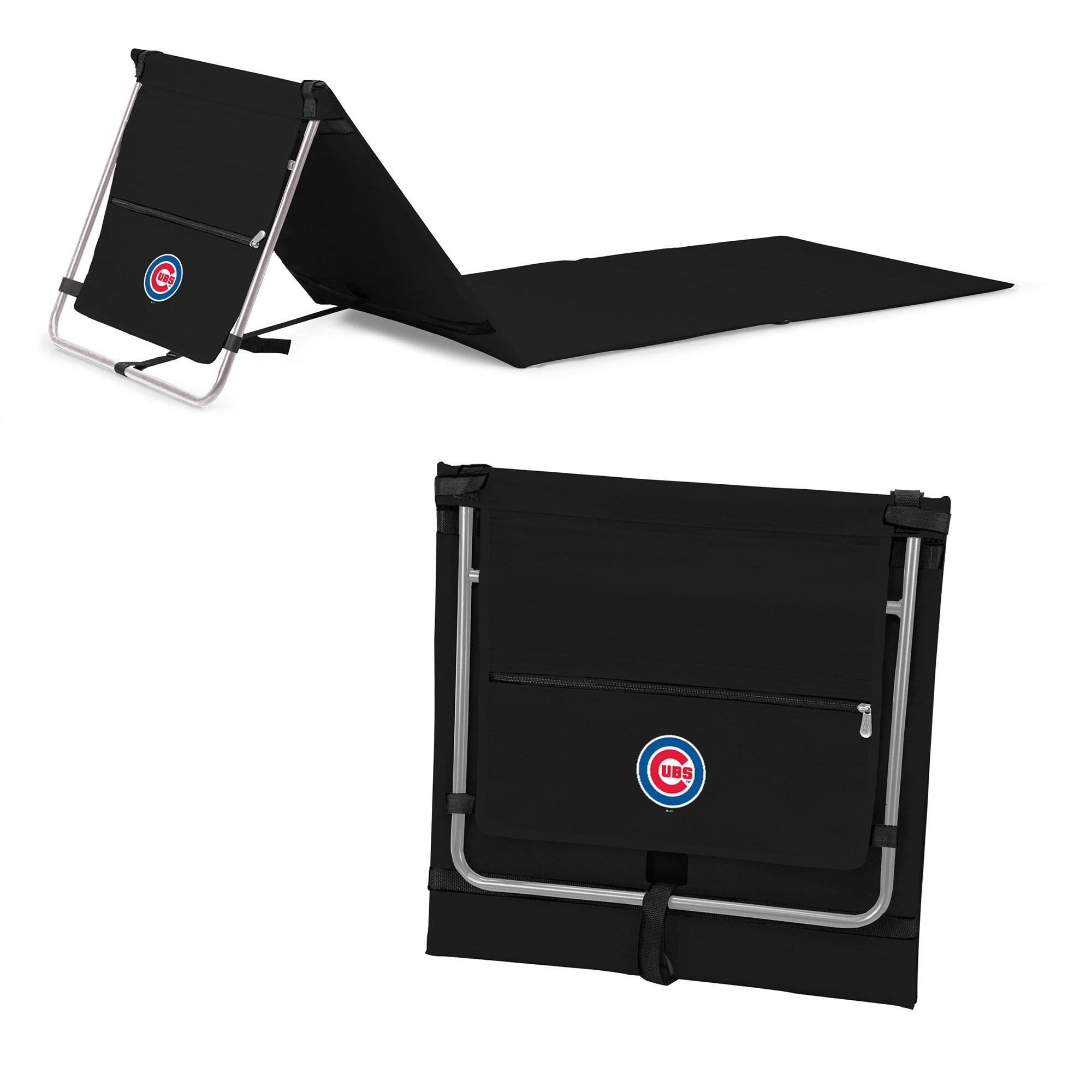 Chicago Cubs Portable Lounger Beach Mat - Black - No Size