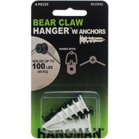 """Double Headed Bearclaw Hangers and Anchors 1.25"""", 2pk"""