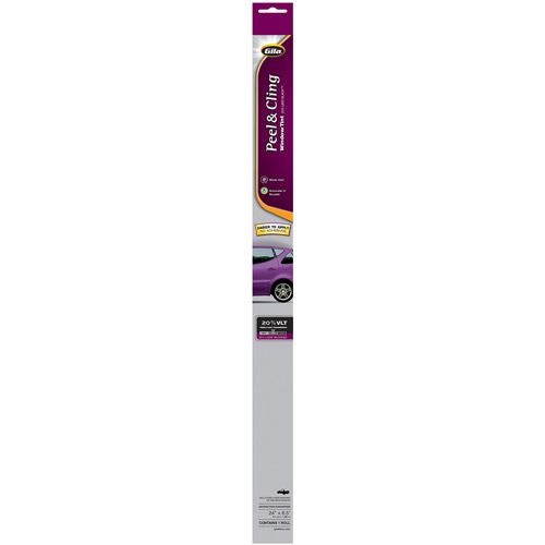 """Gila 24"""" x 78"""" Basic Scratch-Resistant Peel-and-Cling Auto Tint"""